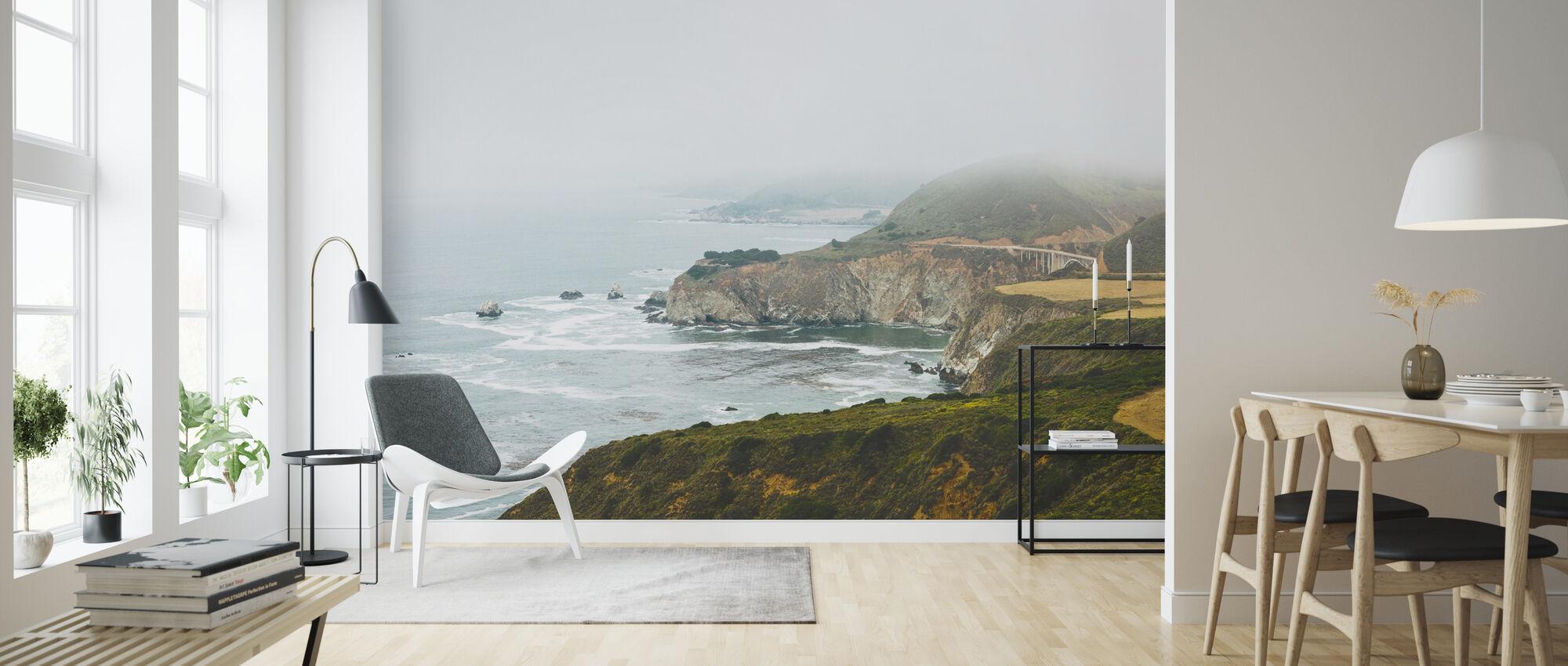 View of Bixby Bridge, California - Wallpaper - Living Room