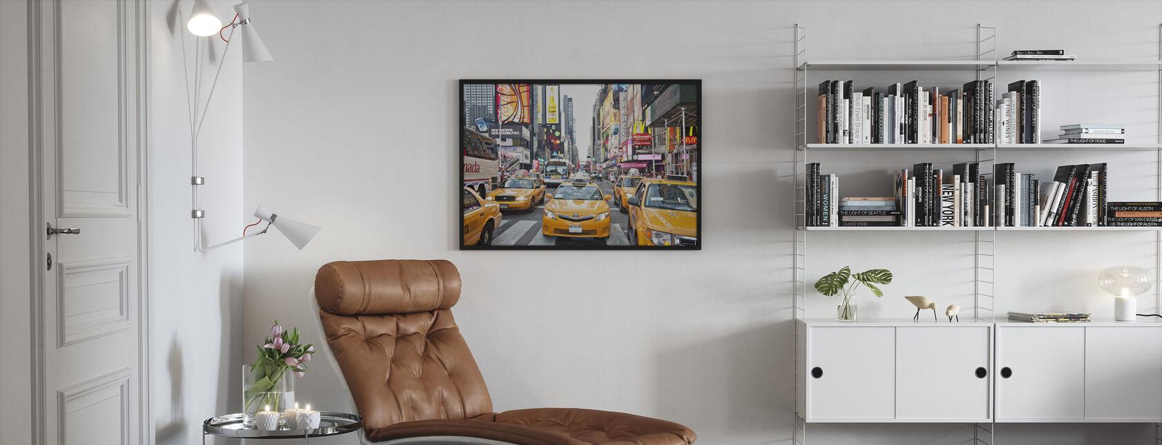 Førerhuse og kapitalisme, New York - Indrammet billede - Stue