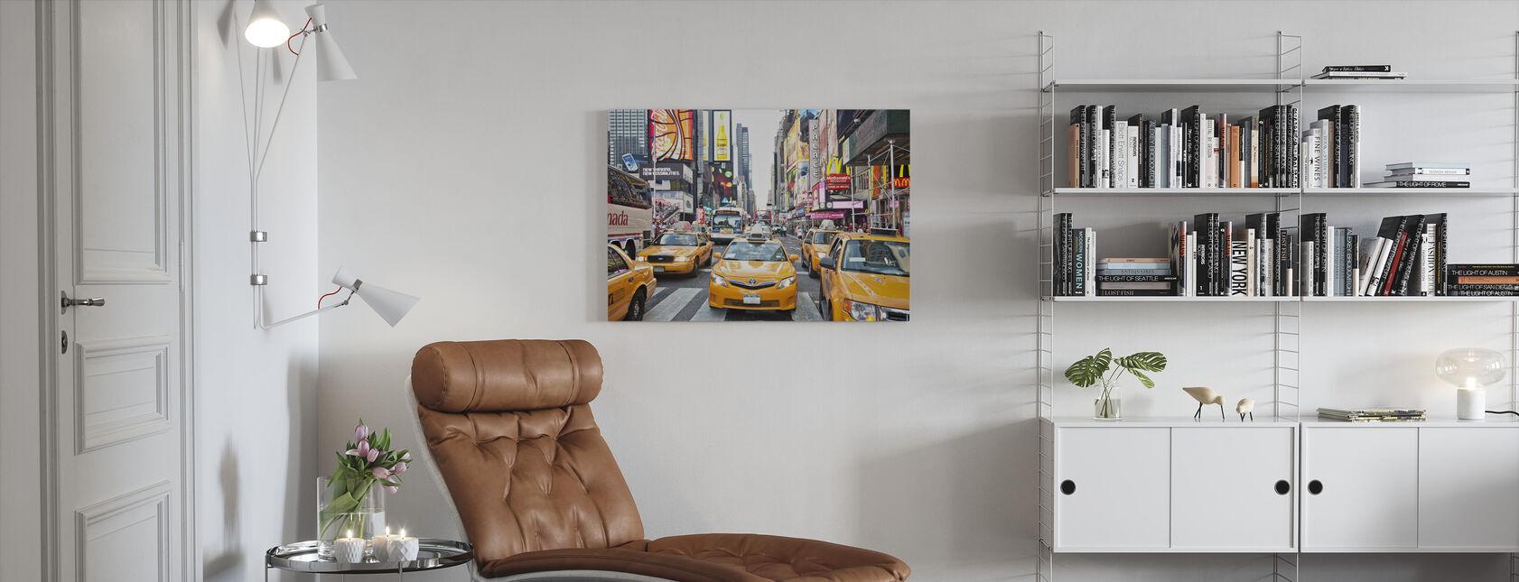 Førerhuse og kapitalisme, New York - Billede på lærred - Stue