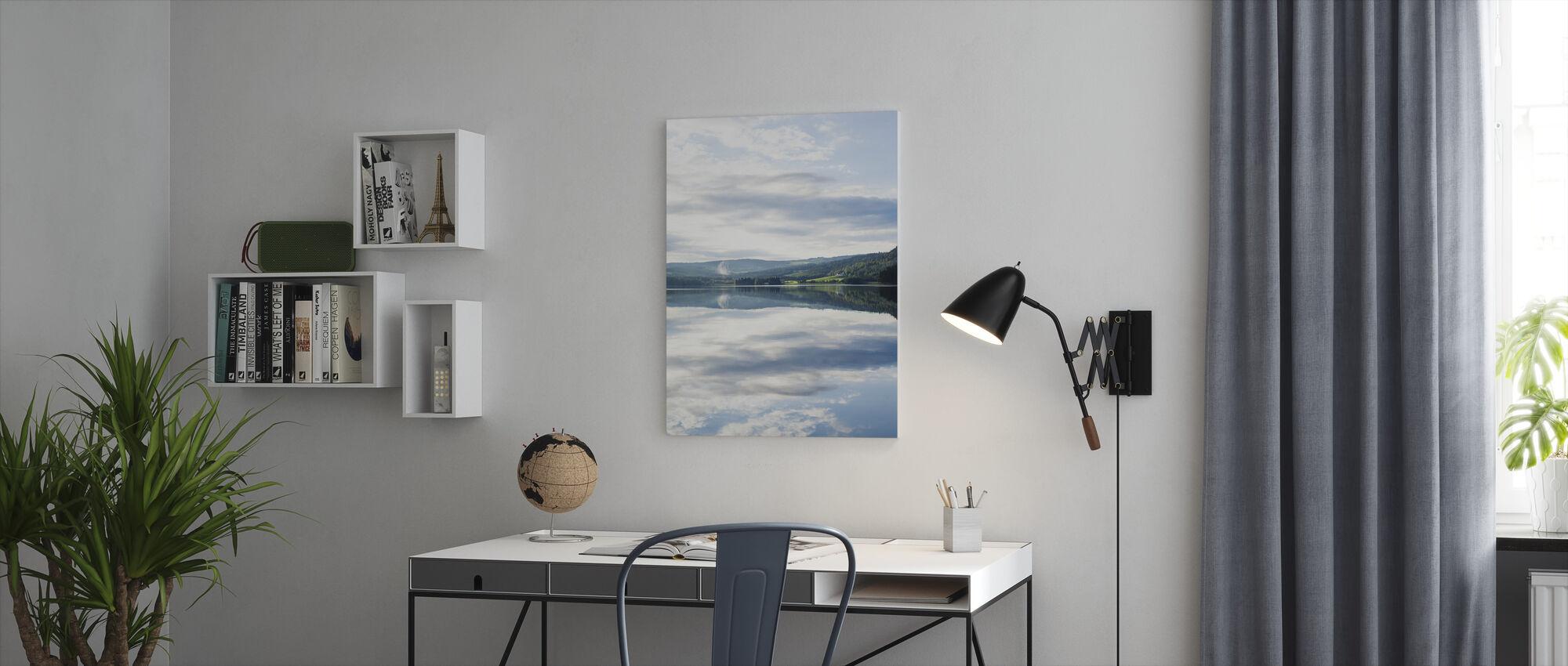 norjalainen valo - Canvastaulu - Toimisto
