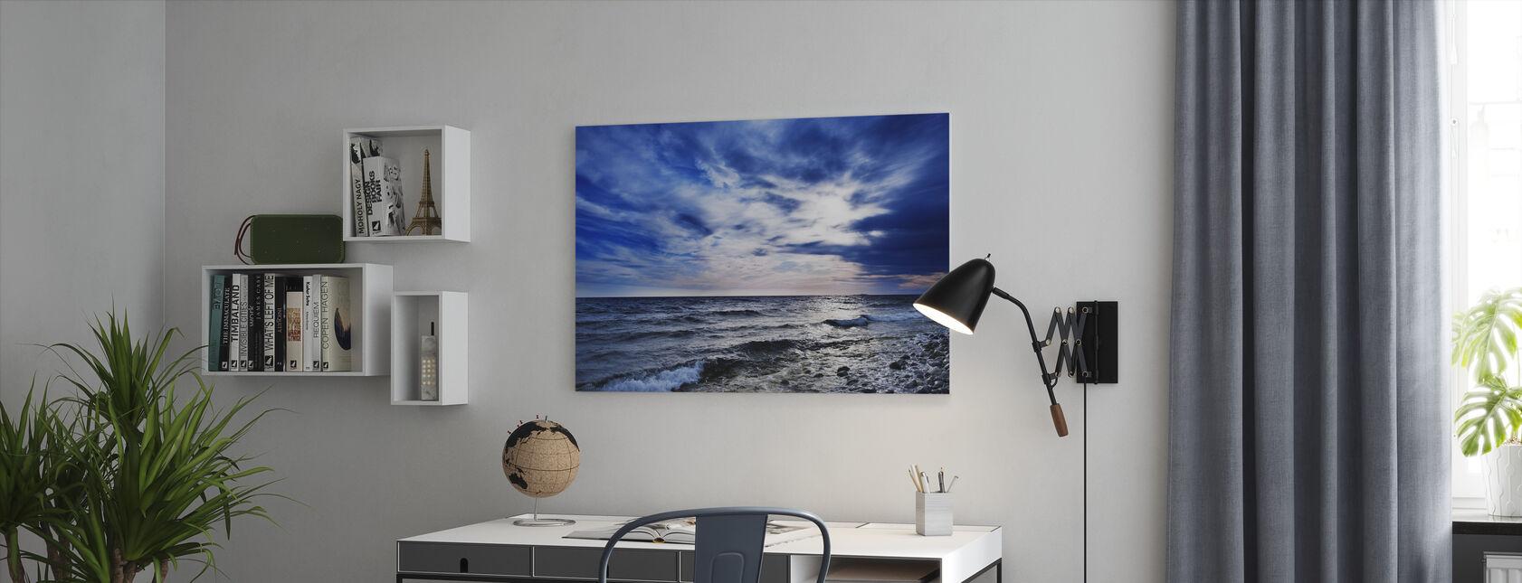 Blue Waves of Torö, Sweden - Canvas print - Office