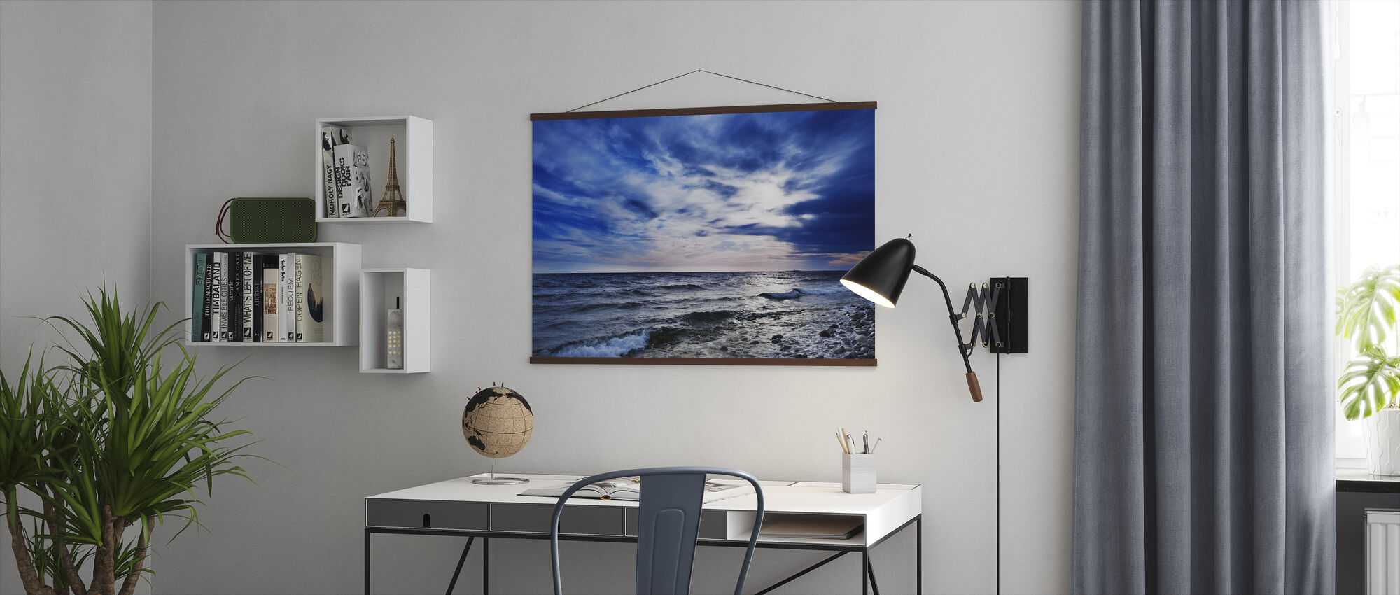 Blauwe golven van Torö, Zweden - Poster - Kantoor