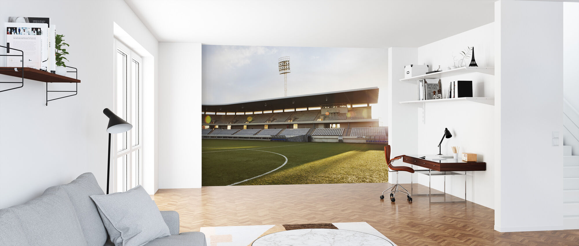 Soccer Field in Barcelona - Wallpaper - Office
