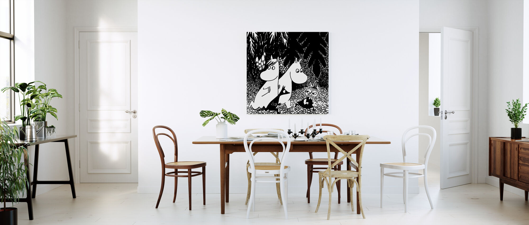 Moomin - Even Darker - Canvas print - Kitchen