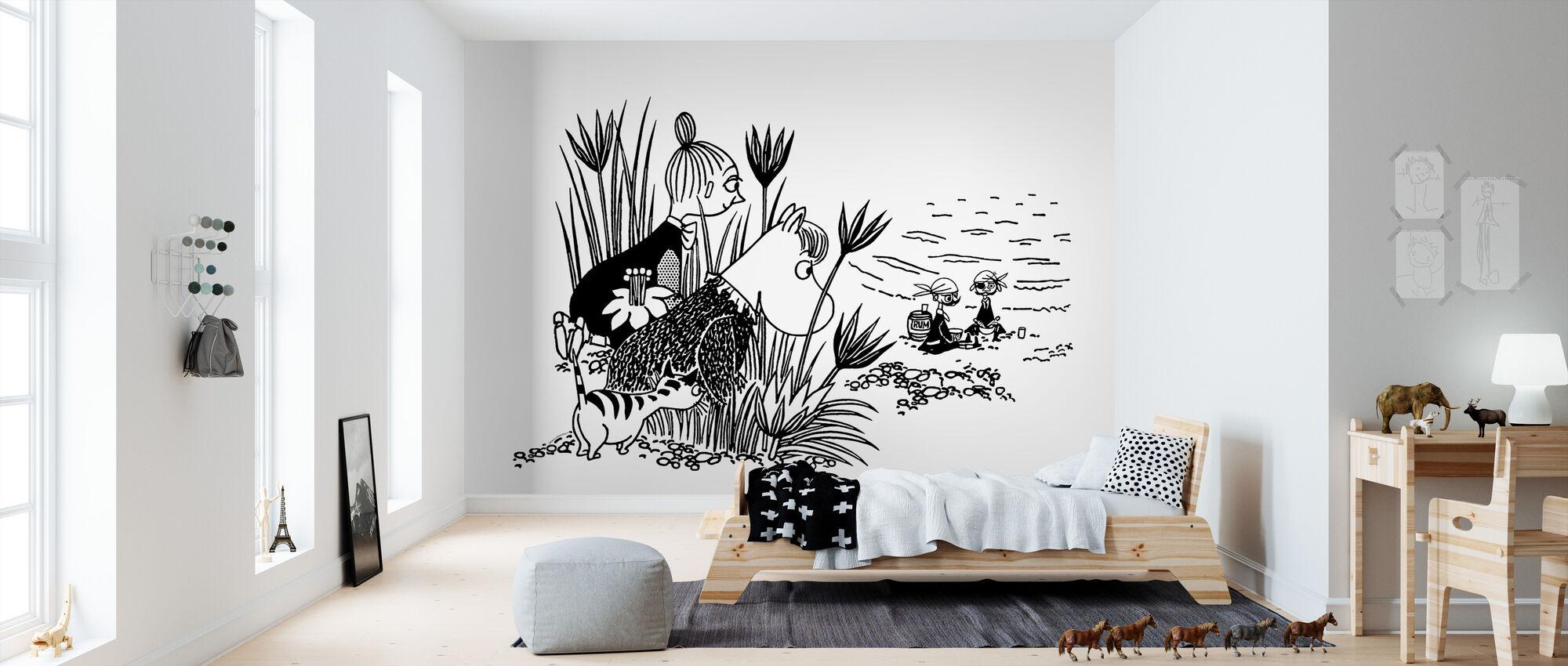 Moomin - piraat picknick - Behang - Kinderkamer