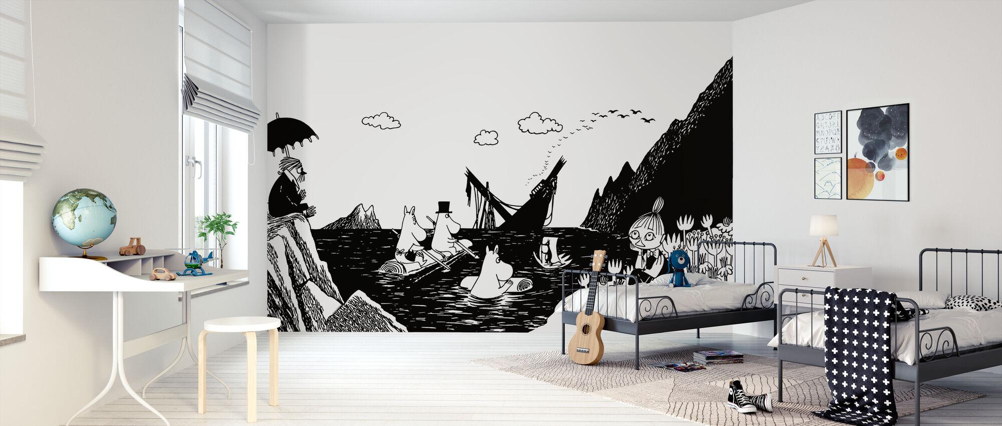 Moomin - Snorkmaiden in a Boat - Wallpaper - Kids Room