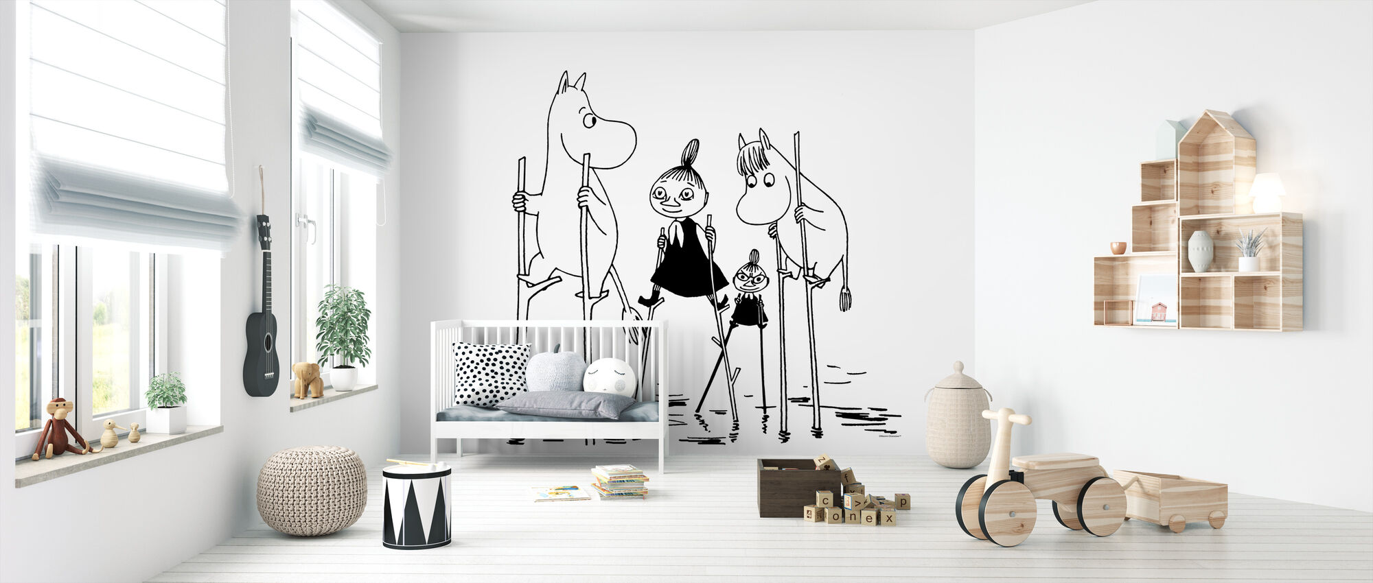 Moomin - Trésors perdus en mer - Papier peint - Chambre de bébé