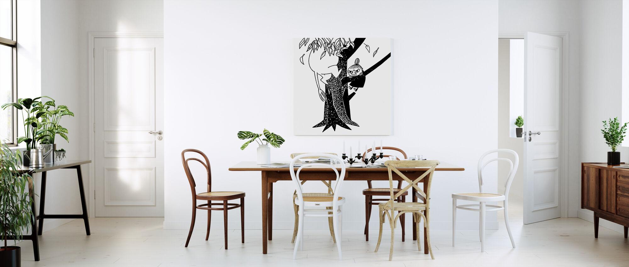 Mumin och lilla min klättring ett träd - Canvastavla - Kök
