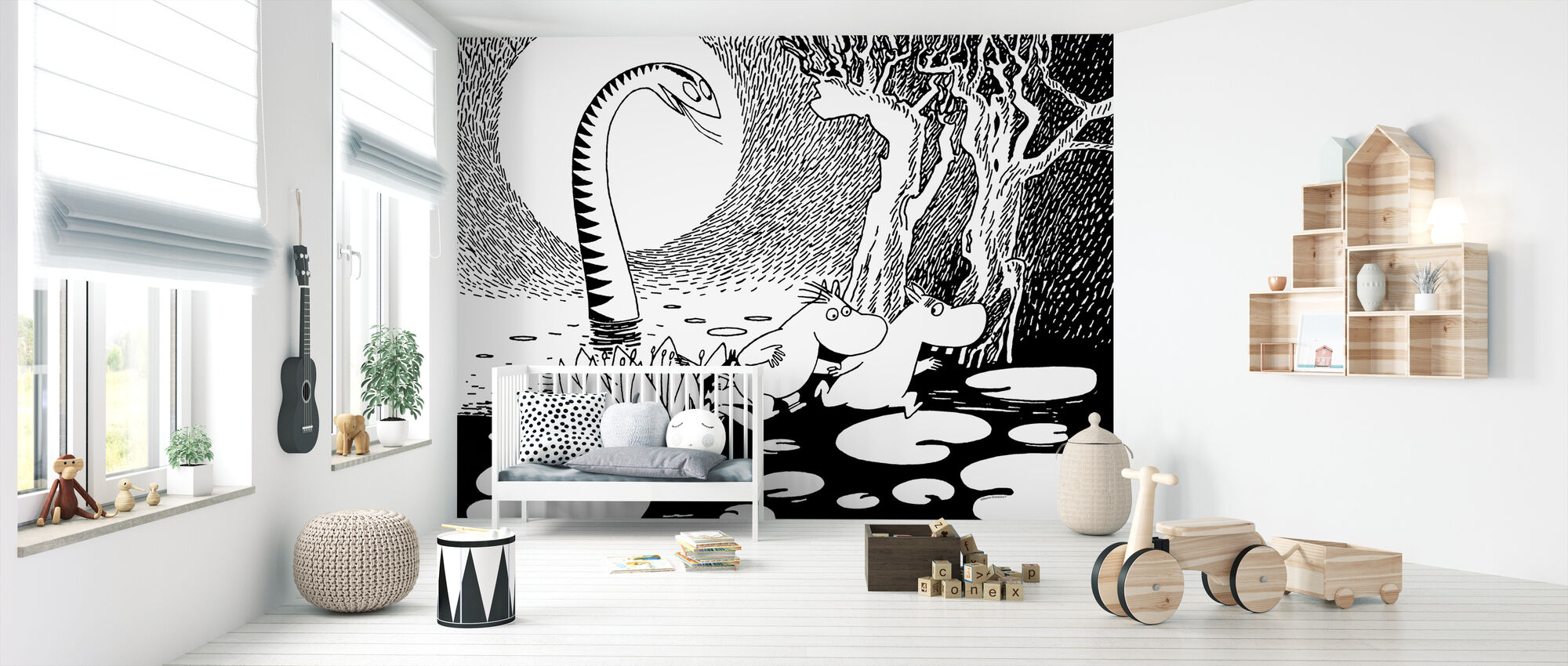 Moomin and Snorkmaiden and the Giant Snake - Wallpaper - Nursery