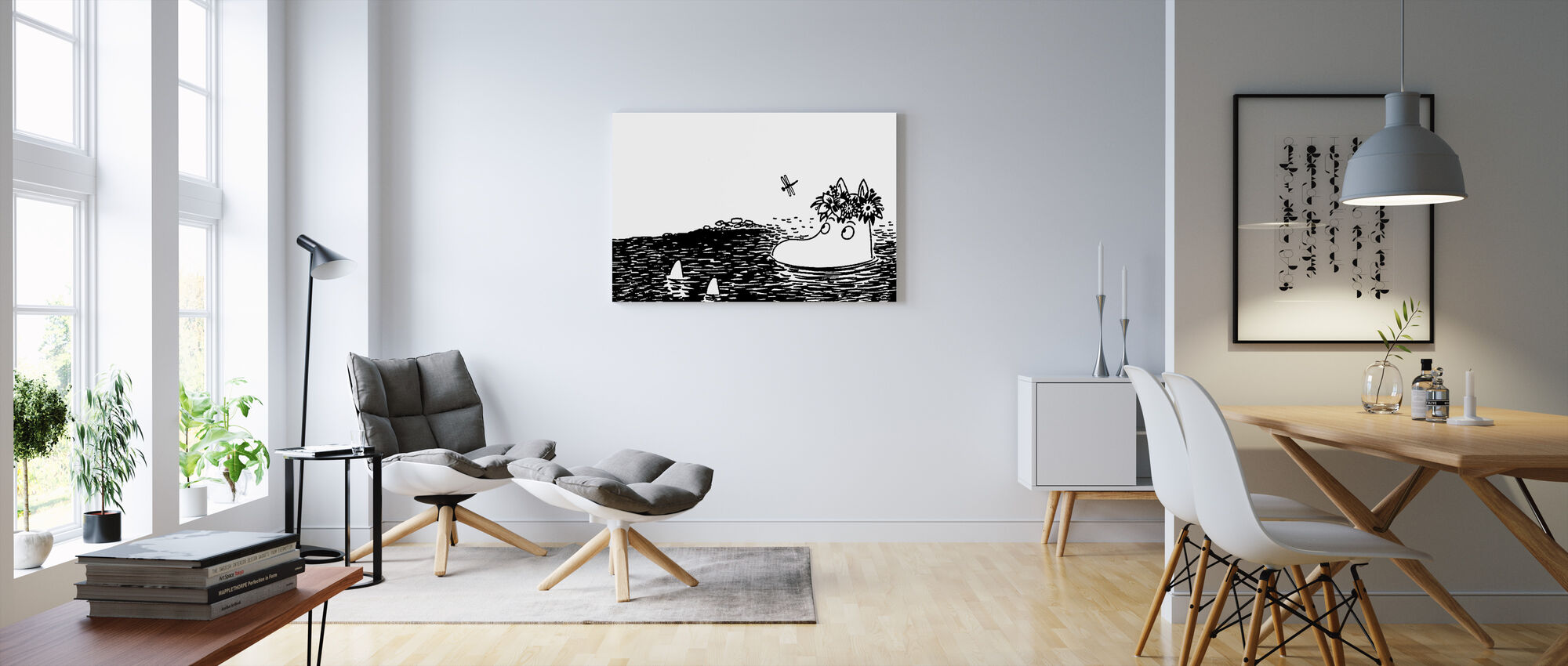 Moomin Contemplating - Canvas print - Living Room