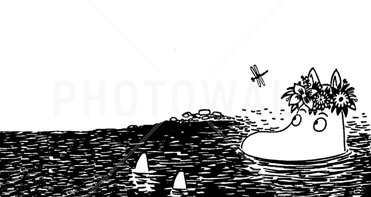 Kuva Moomin Contemplating Tapetit / tapetti 100 x 100 cm
