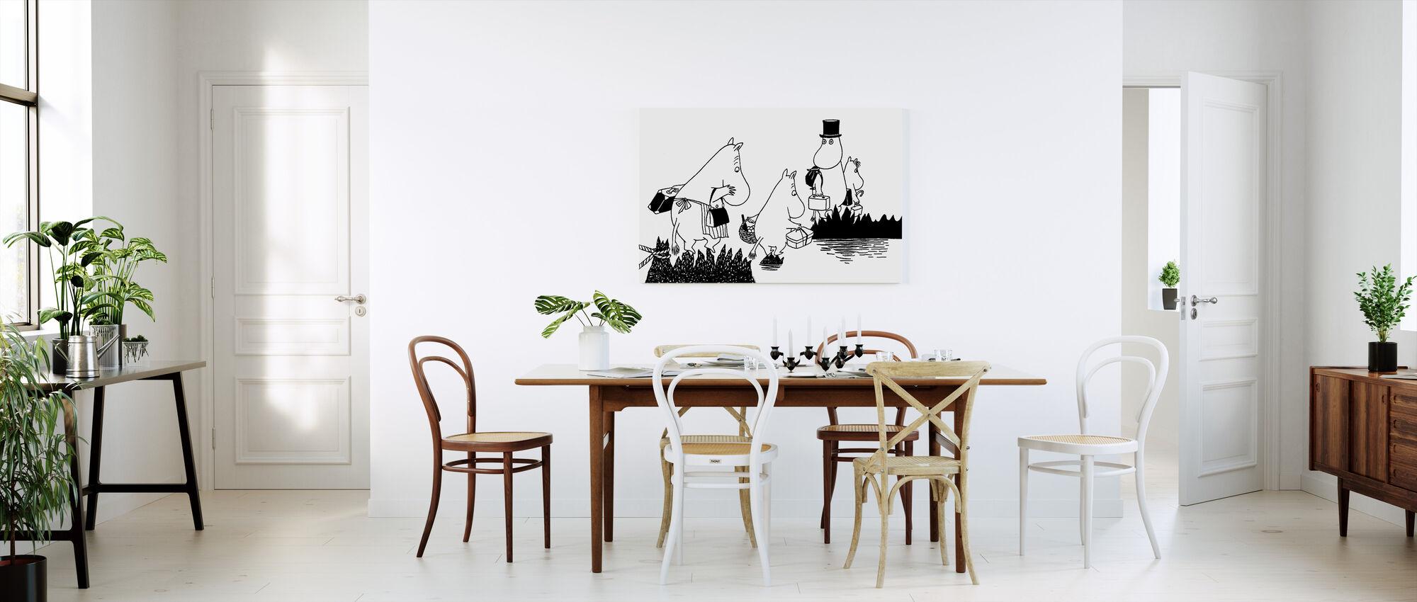Muomin Familie - Billede på lærred - Køkken