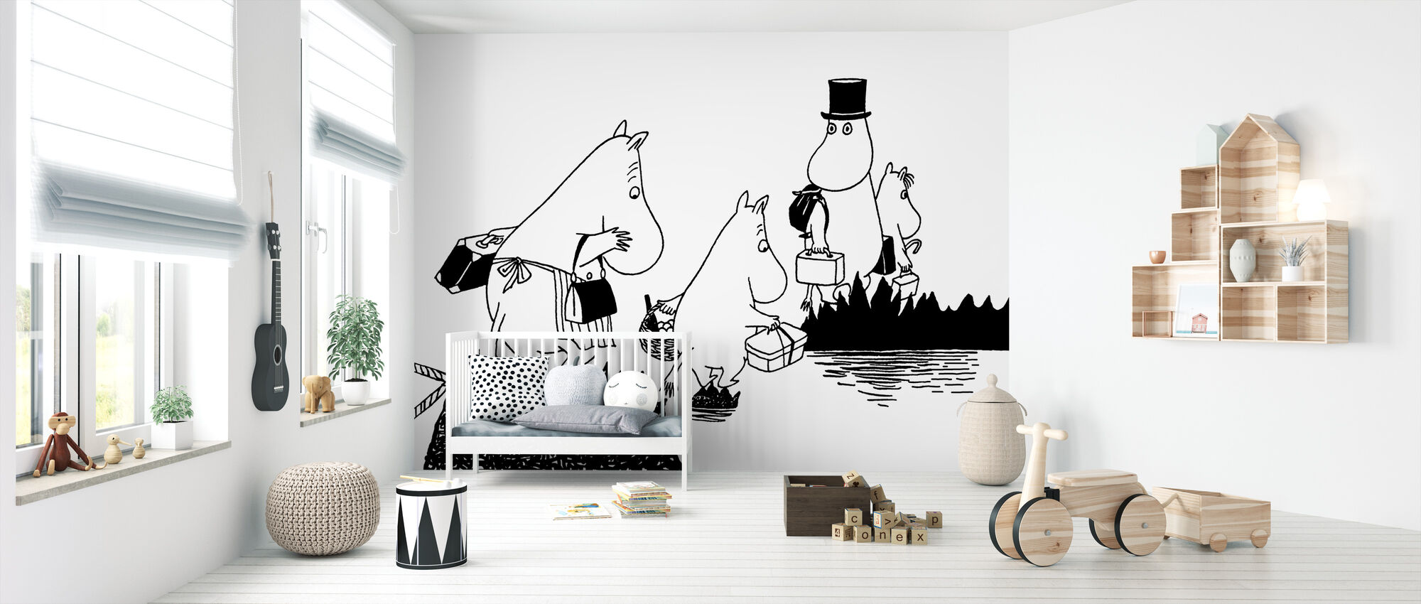 Moomin Family - Wallpaper - Nursery