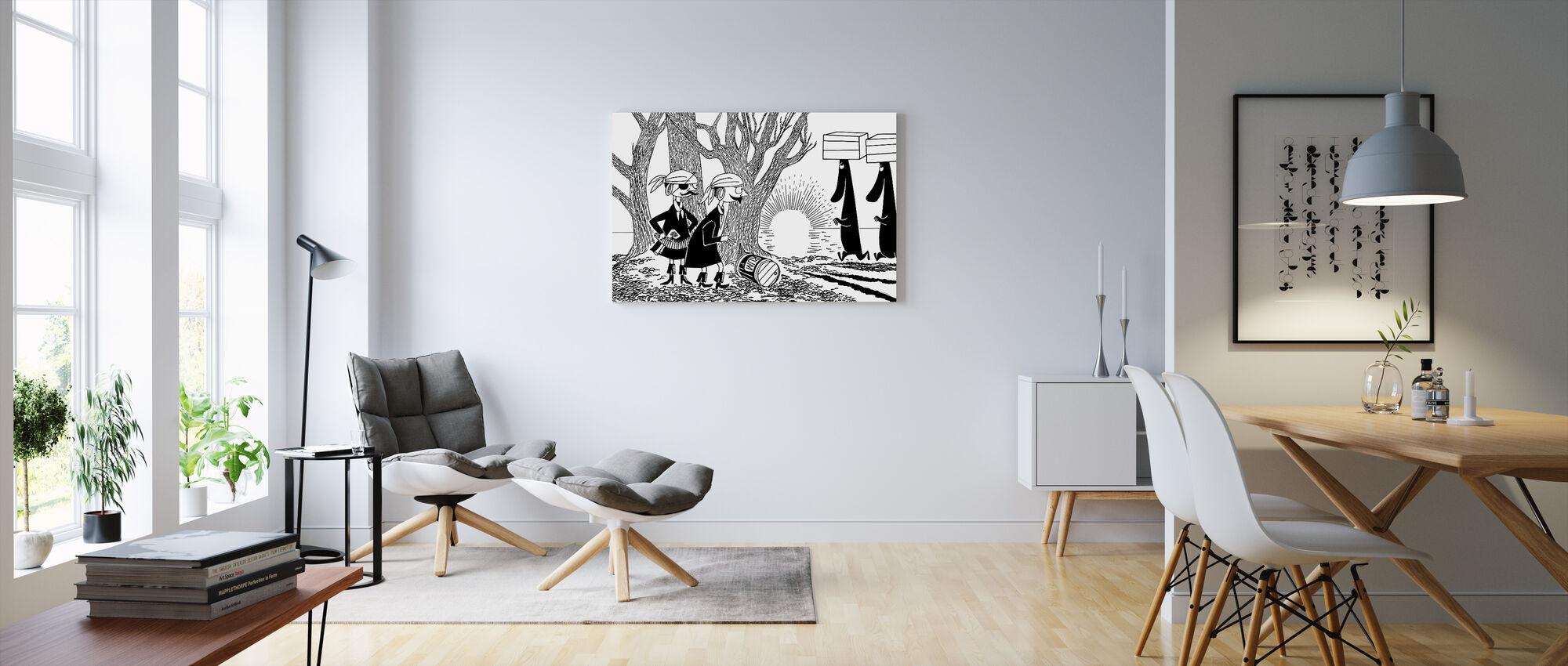 Moomin pirater - Lerretsbilde - Stue