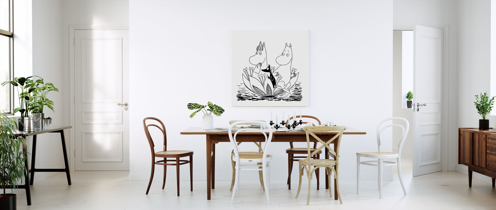 Moomin - Water Lily Boat - Canvas print - Kitchen