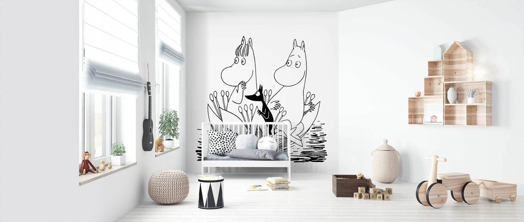 Moomin - Waterlelie Boot - Behang - Babykamer