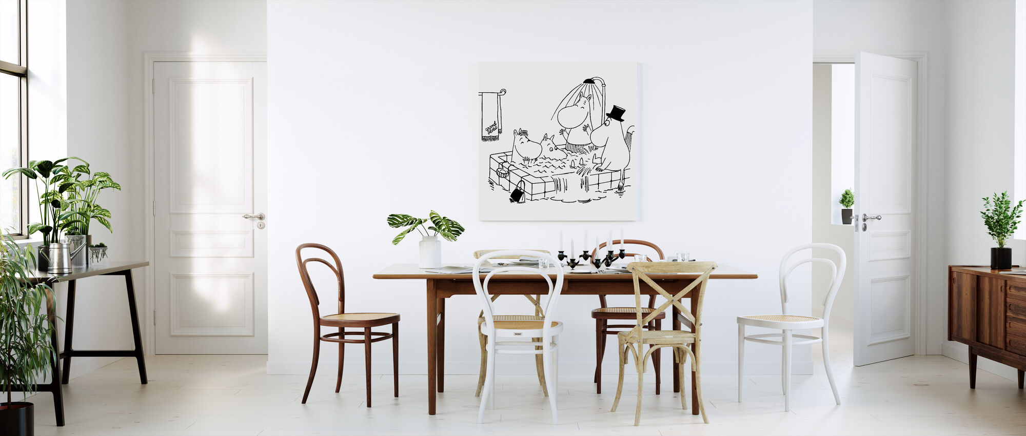Moomin - Moomin family at Grand Hotel - Canvas print - Kitchen