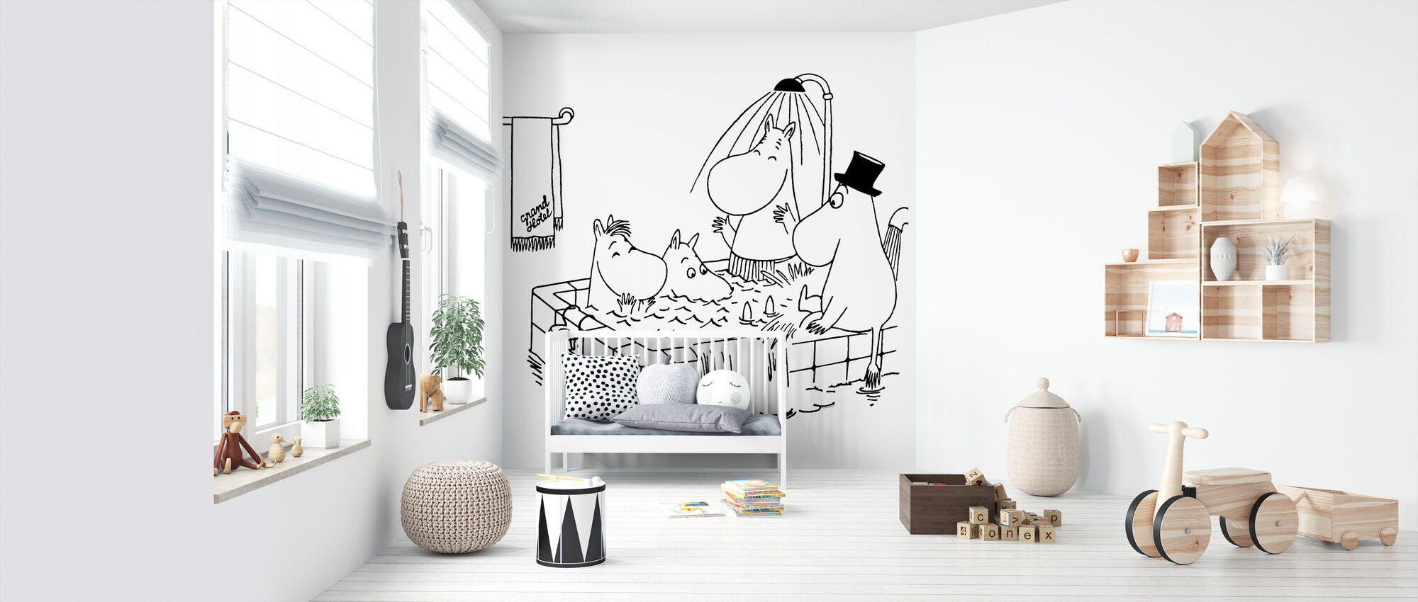 Moomin - familie Moomin in Grand Hotel - Behang - Babykamer