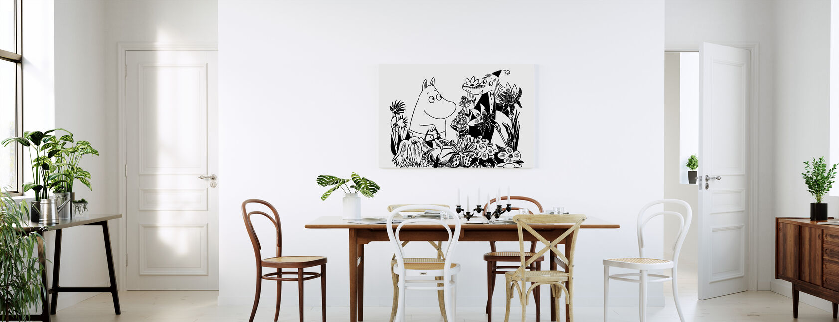 Moominmamma et Fillyjonk - Impression sur toile - Cuisine