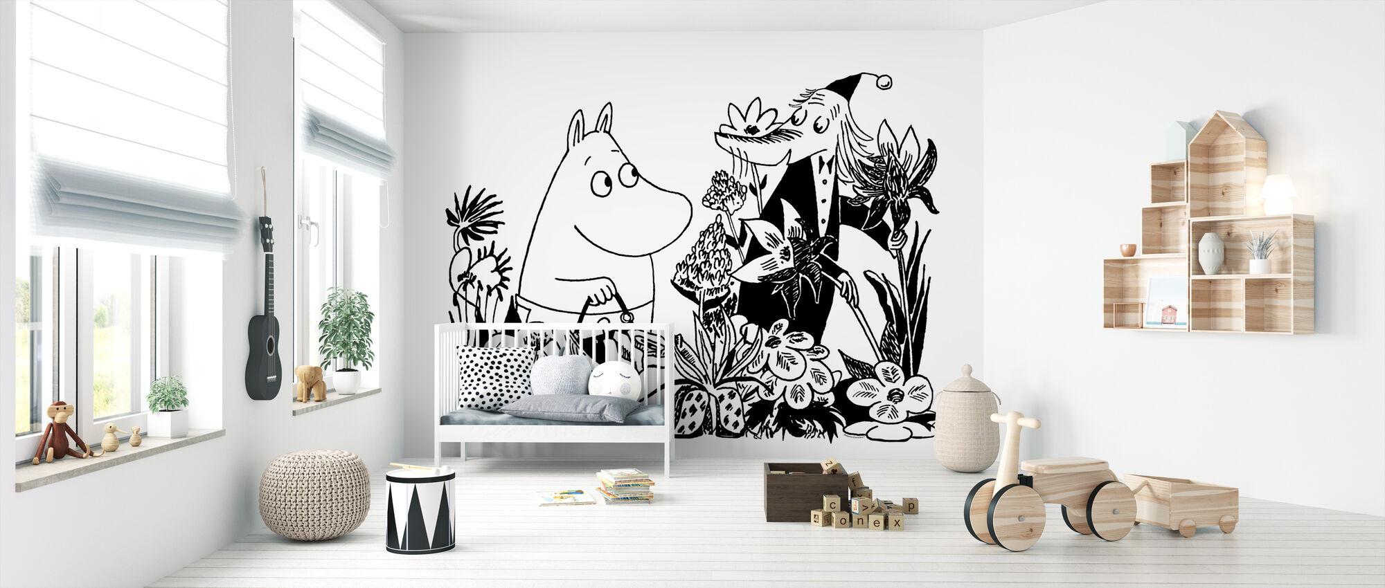 Moominmamma og Fillyjonk - Tapet - Babyværelse