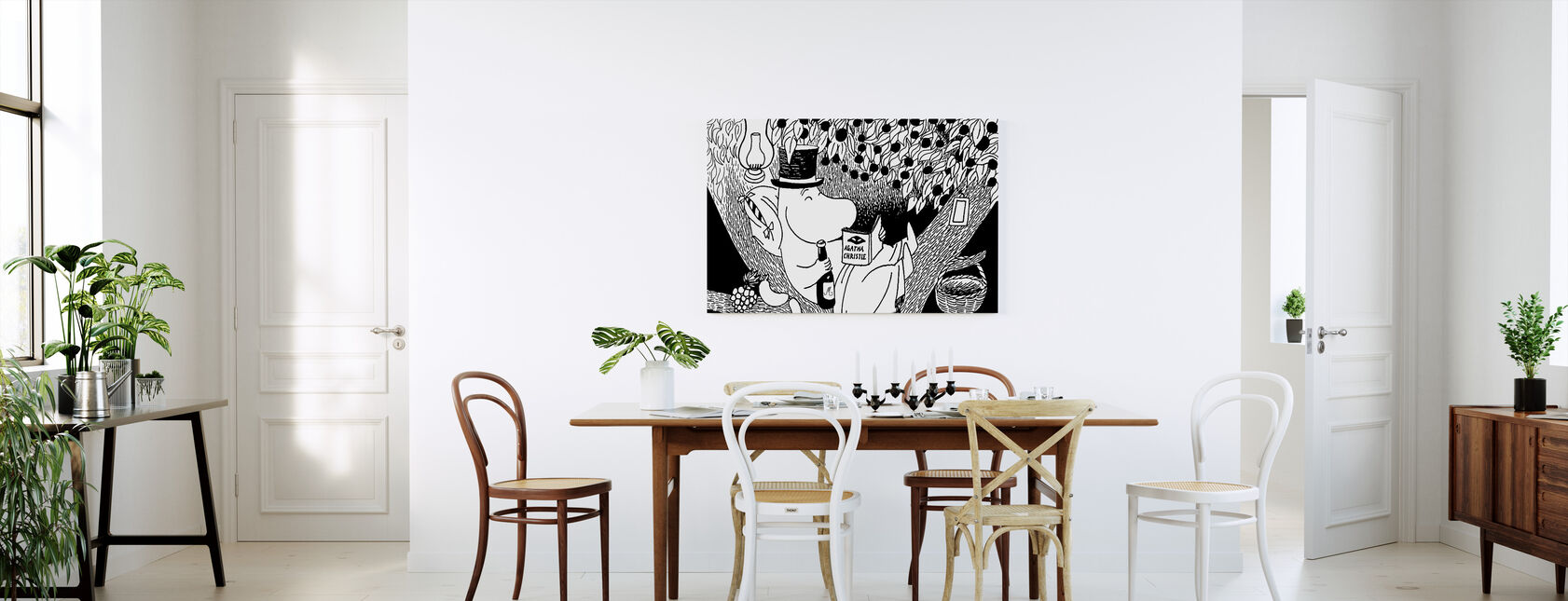 Moomin - Moominpappa Reading in a Tree - Canvas print - Kitchen