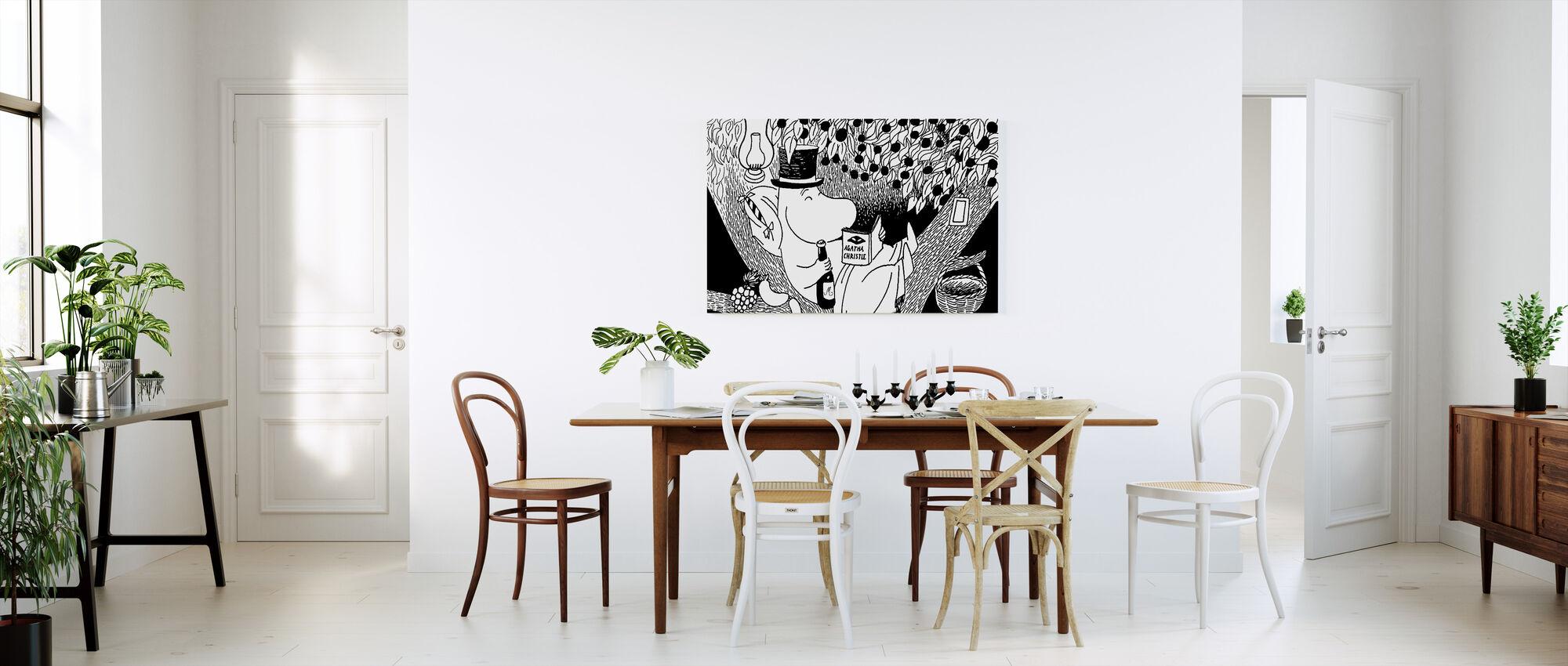 Moomin - Moominpappa Reading in a Tree - Canvas print - Kitchen