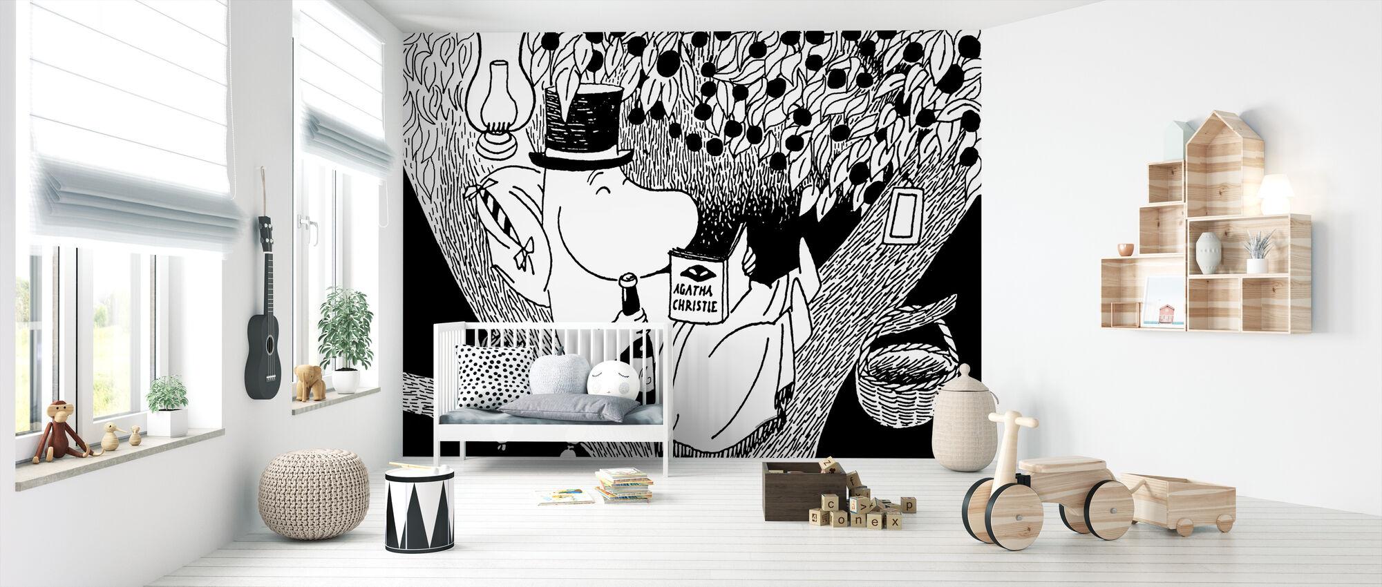Moomin - Moominpappa Reading in a Tree - Wallpaper - Nursery