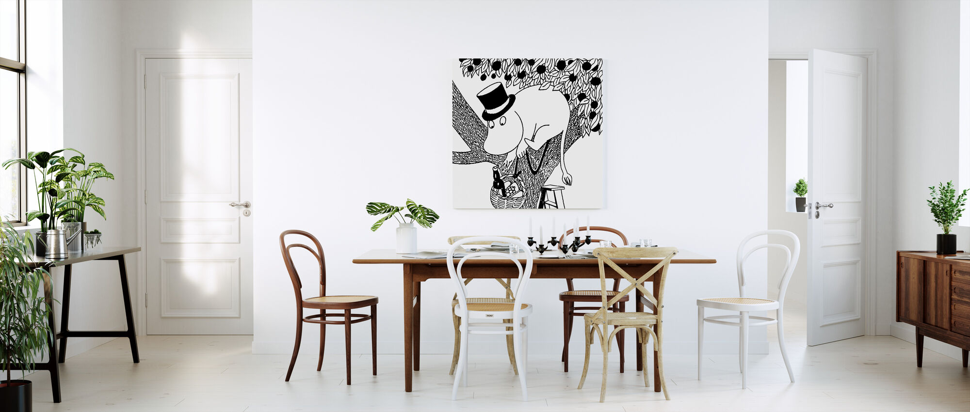 Moomin - Moominpappa the Epicurean - Canvas print - Kitchen