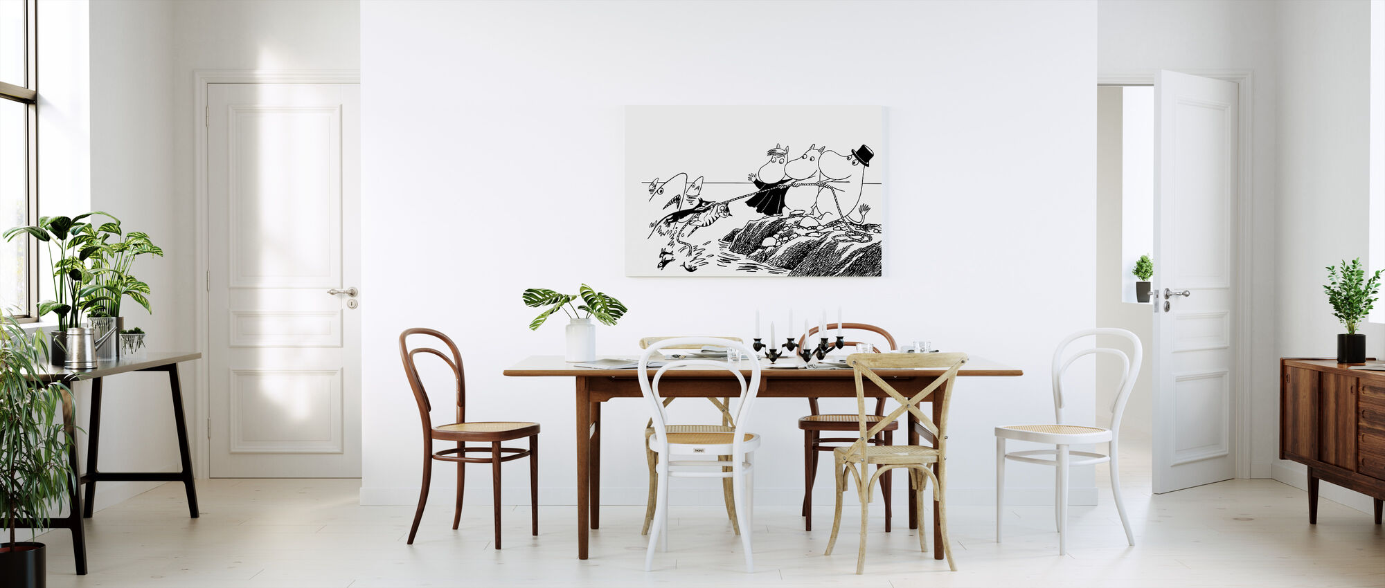 Moomins Gone Fishing - Canvas print - Kitchen
