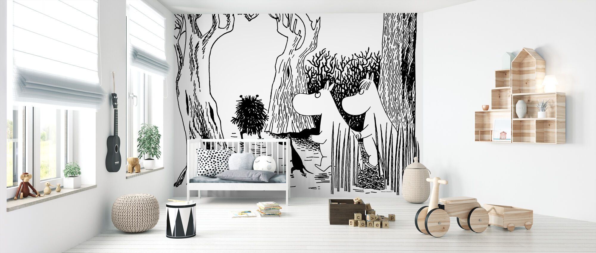 Moomin - Stinky - Wallpaper - Nursery