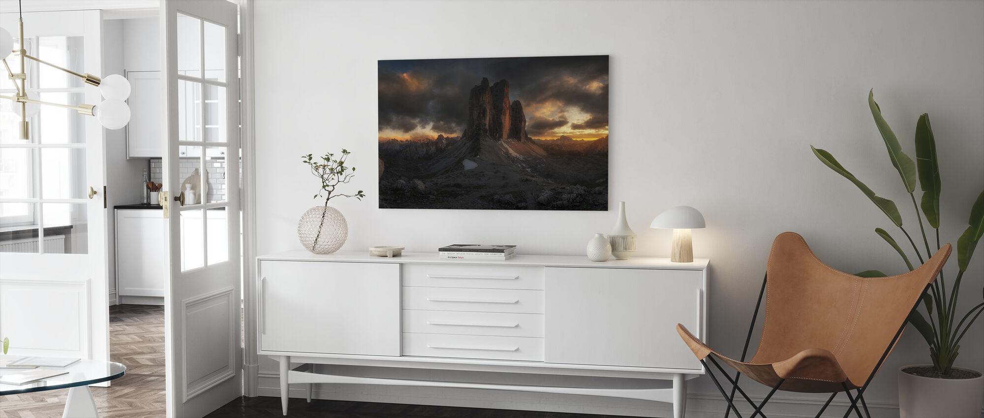 Dolomite Sunset - Canvas print - Living Room