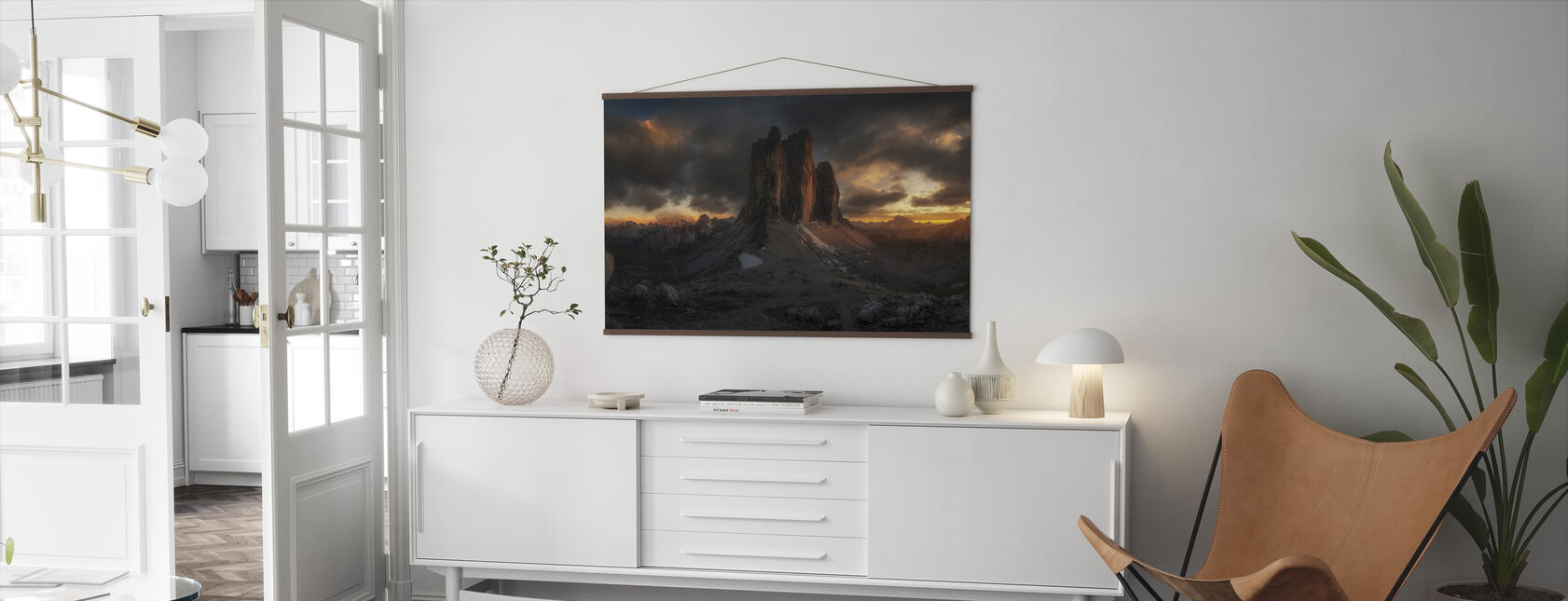 Dolomite Sunset - Poster - Living Room