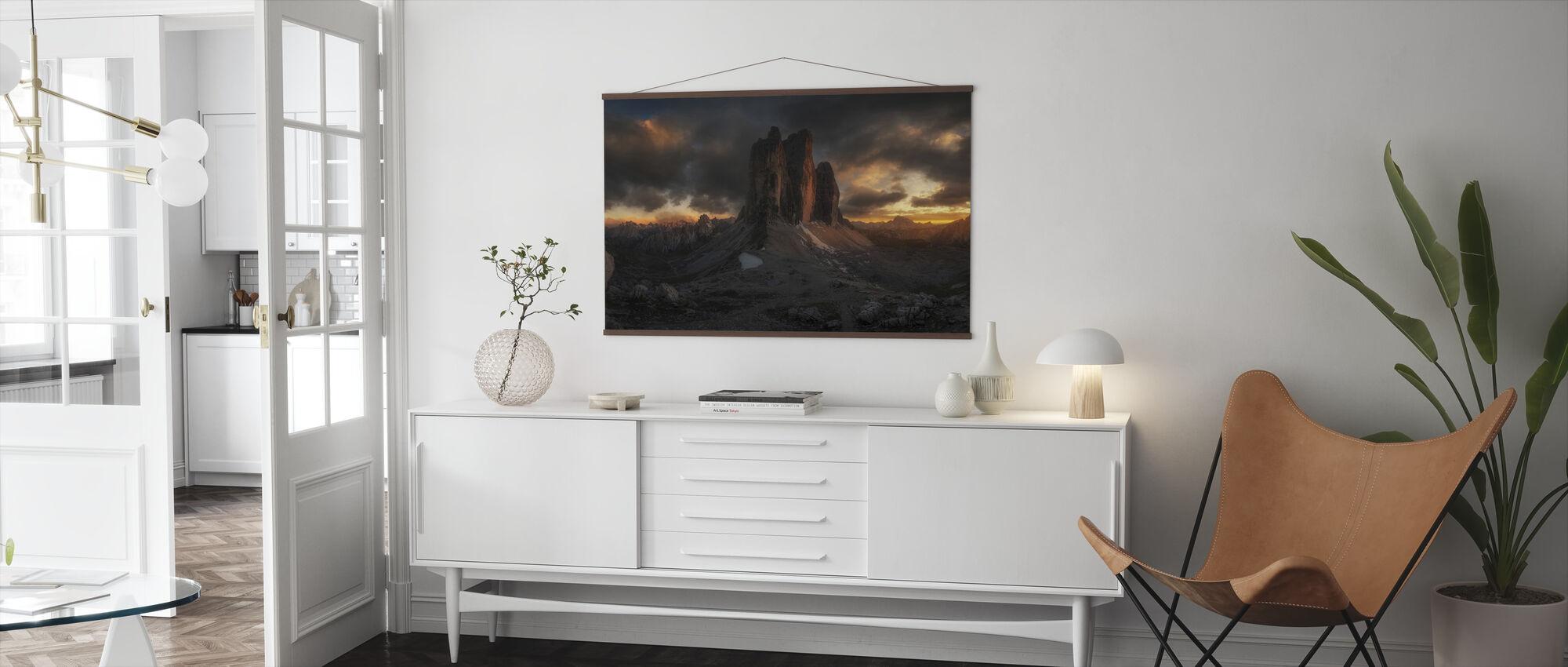 Dolomite Sunset - Poster - Living Room