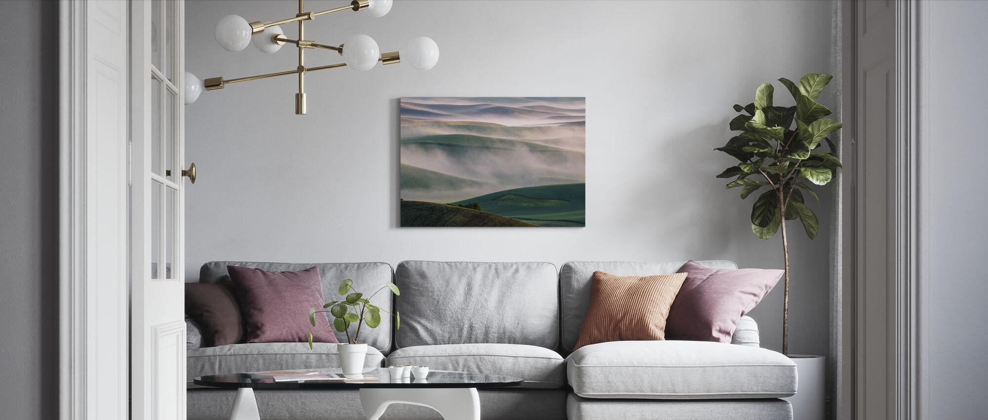 Dream Land in Morning Mist - Canvas print - Living Room