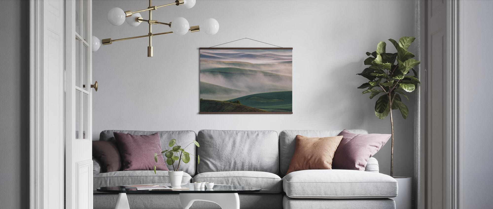 Dream Land in Morning Mist - Poster - Living Room