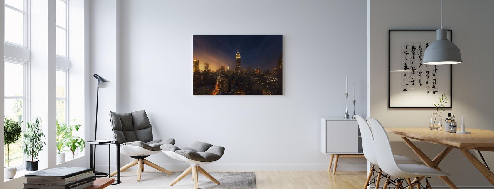 New York Glow - Canvas print - Living Room