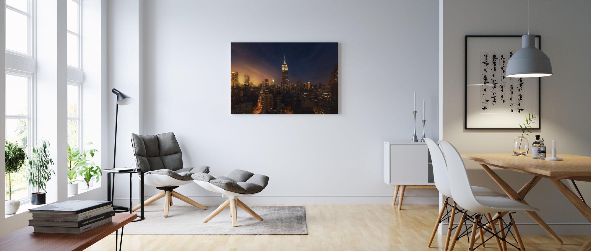 New York Gloed - Canvas print - Woonkamer