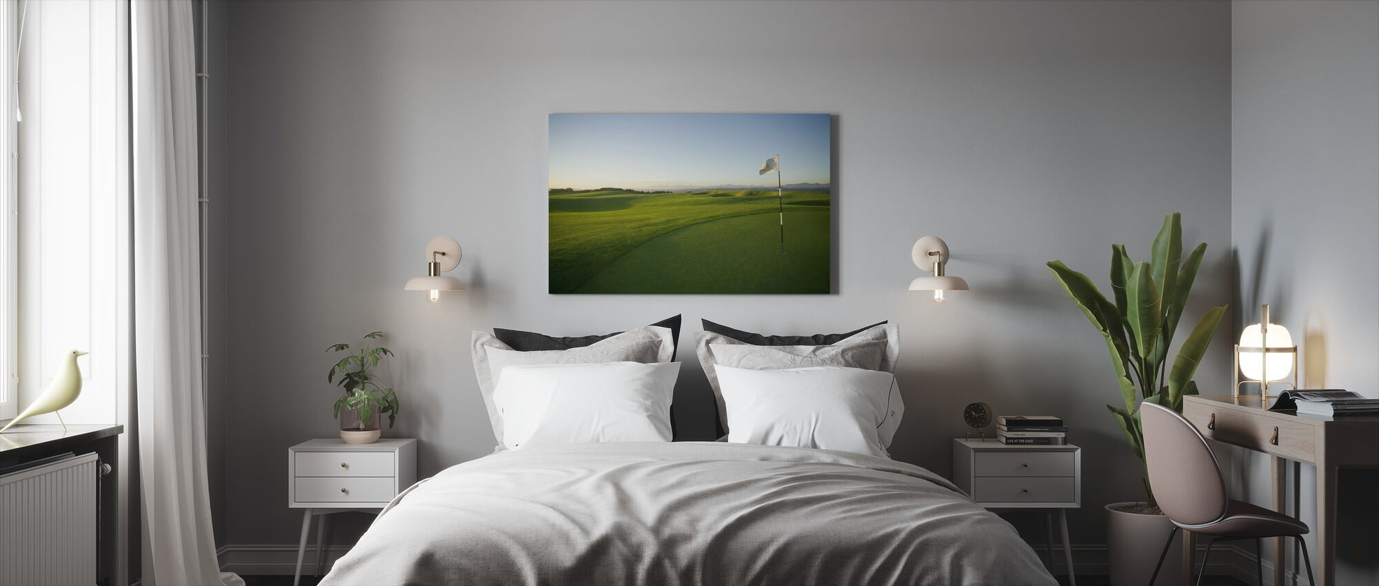 Zuid-Afrikaanse golfbaan - Canvas print - Slaapkamer