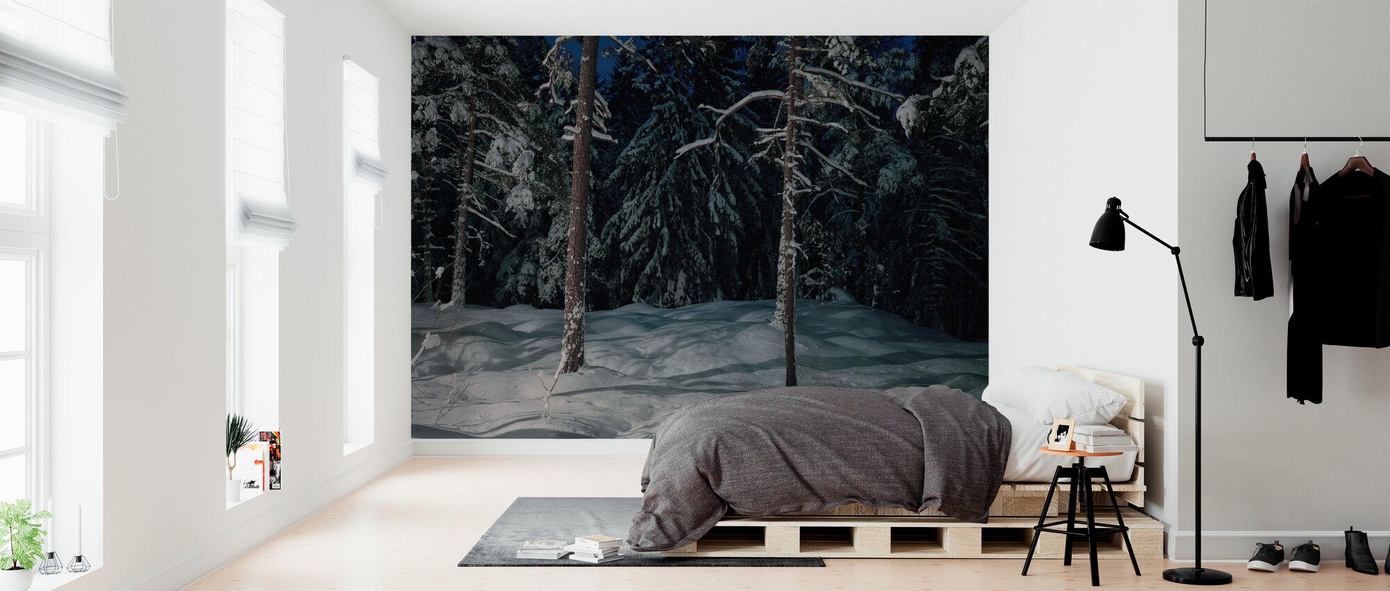 Winter Lighting in Nacka, Sweden - Wallpaper - Bedroom