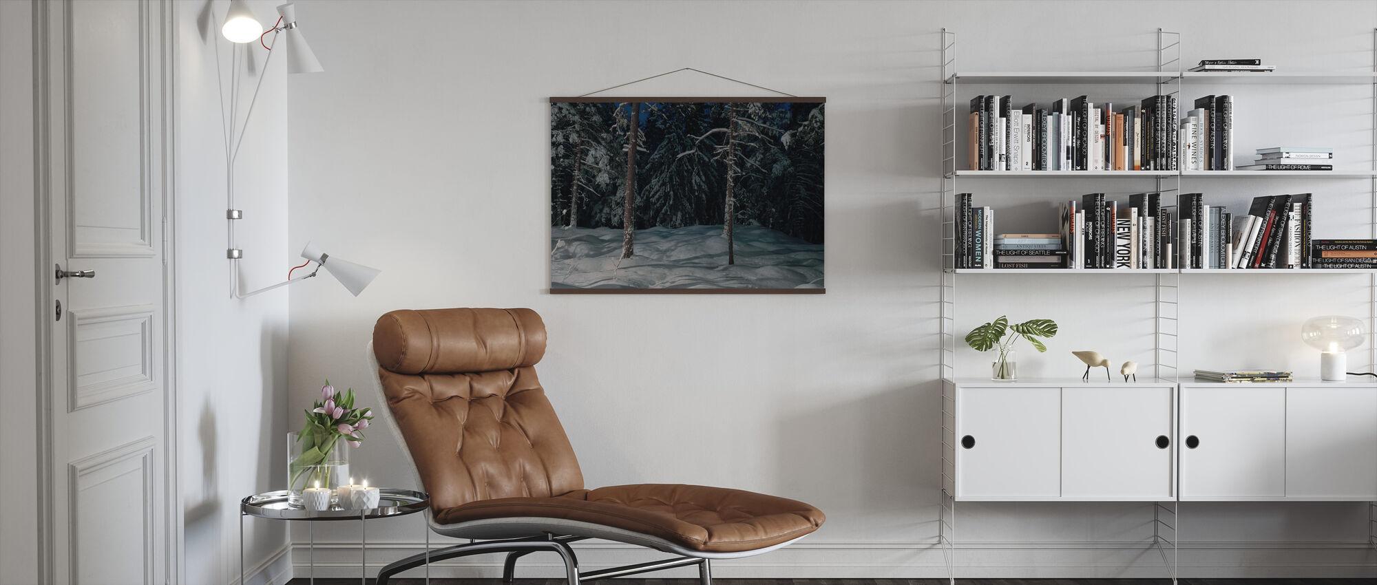 Winter Lighting in Nacka, Sweden - Poster - Living Room