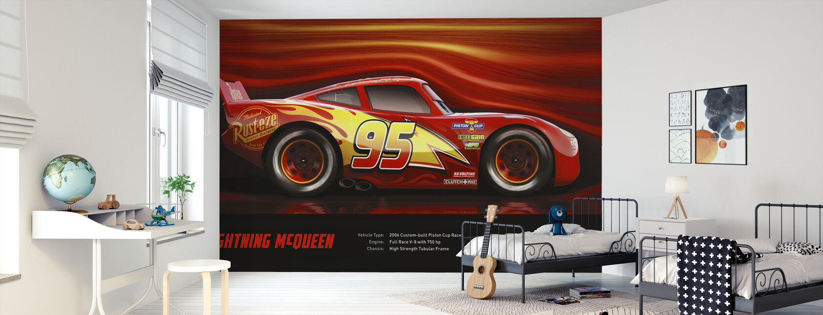 Cars 3 - Lyn McQueen - Tekniske data - Tapet - Barnerom