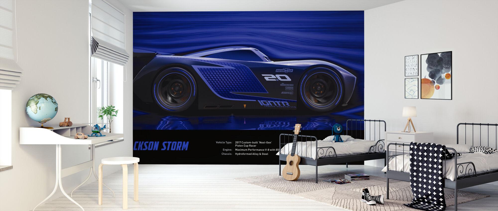 Cars 3 - Jackson Storm - Tekniske data - Tapet - Barnerom