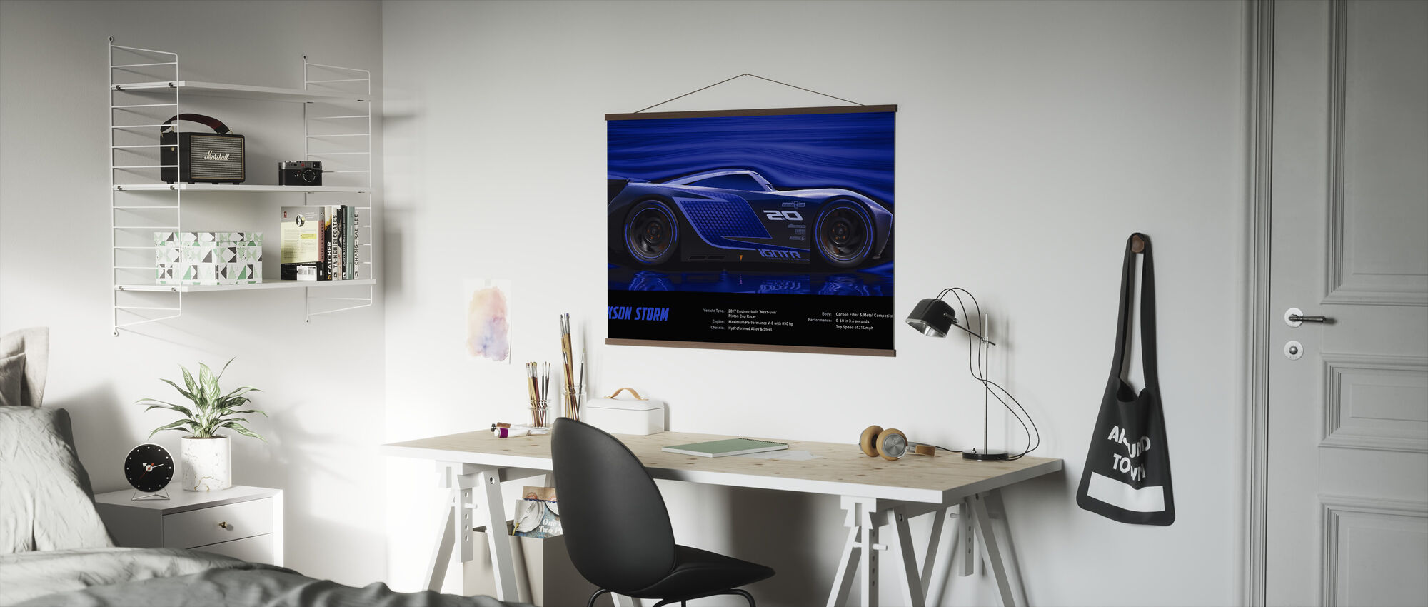 Cars 3 - Jackson Storm - Tekniske data - Plakat - Kontor