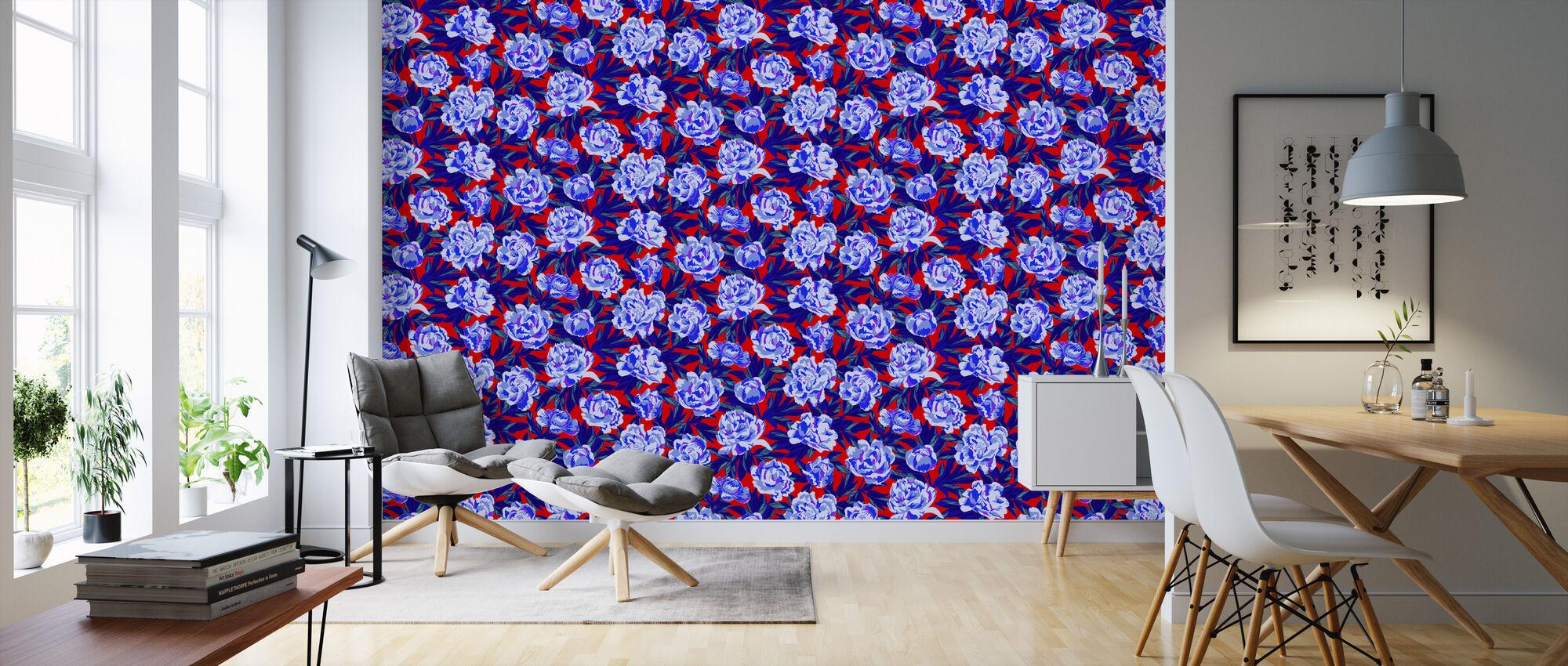 Blaze Red - Wallpaper - Living Room