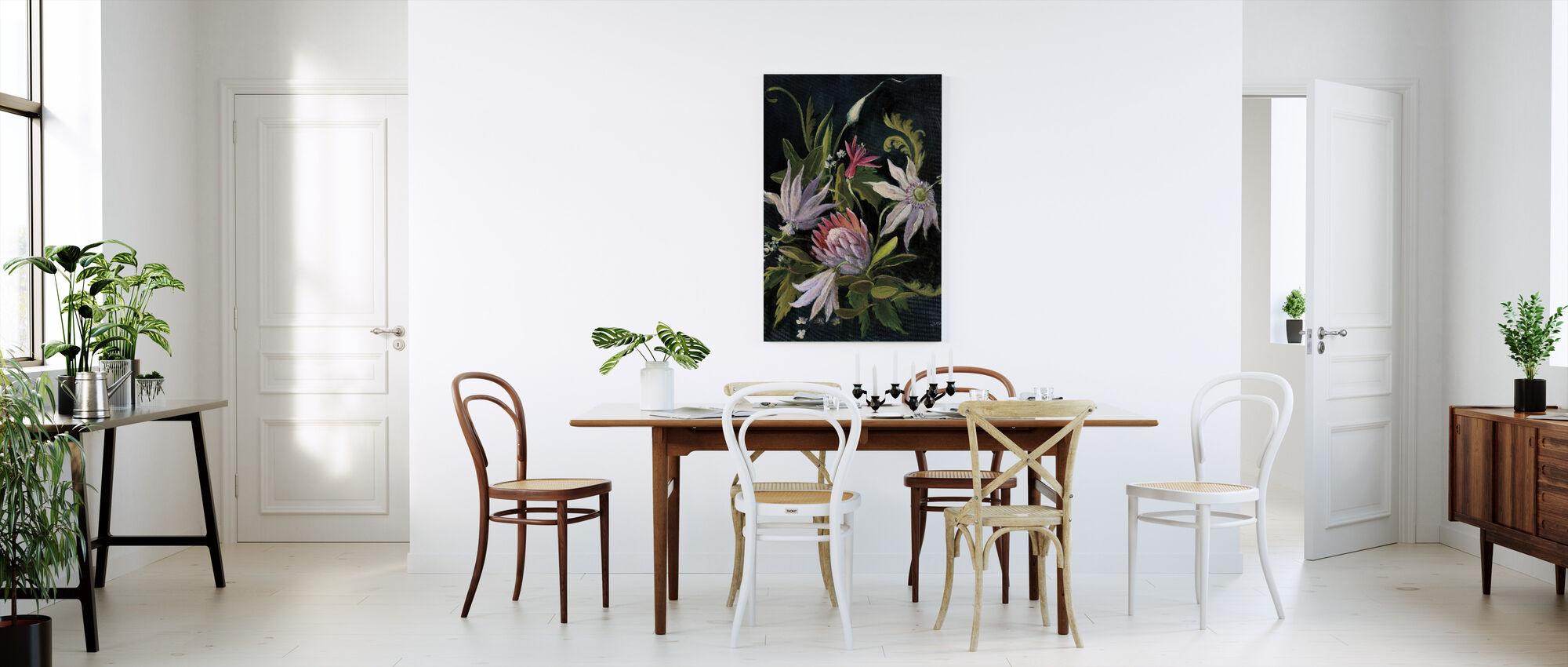 Spectacle de fleurs I - Impression sur toile - Cuisine