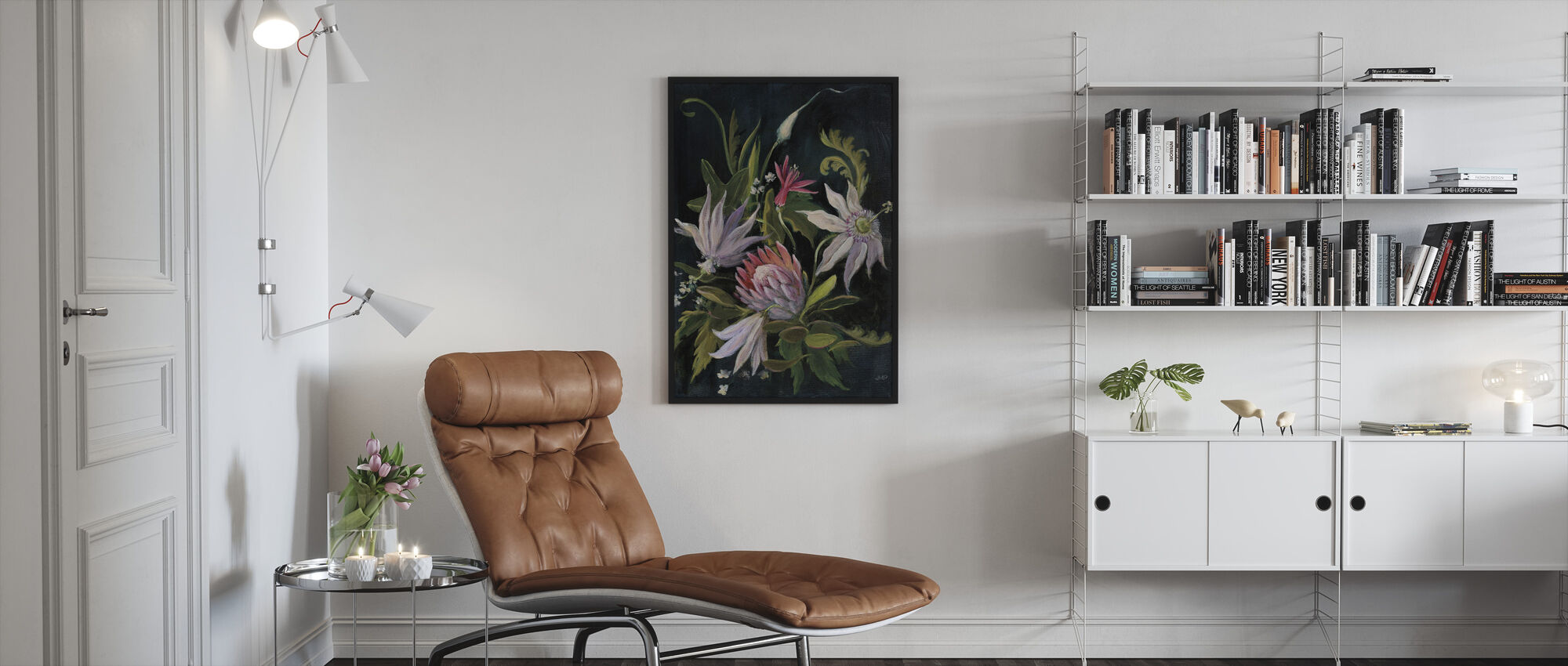 Kukka Näytä I - Kehystetty kuva - Olohuone