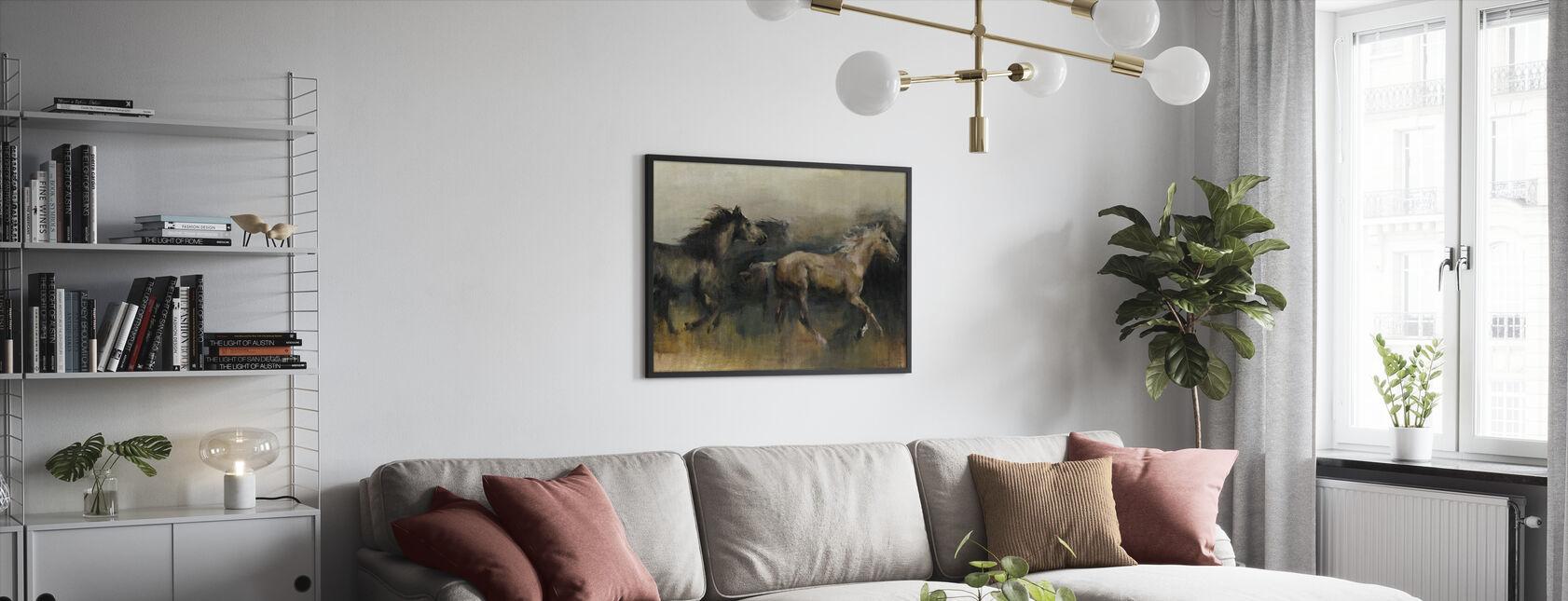 Roaming i väst - Inramad tavla - Vardagsrum