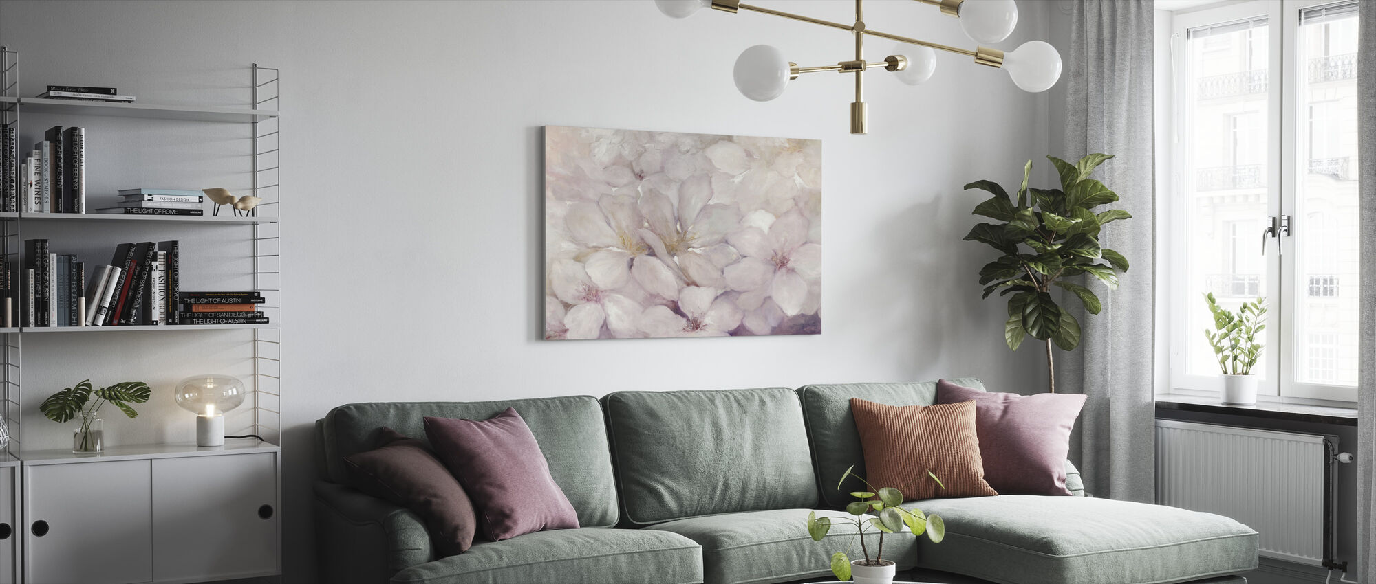 Apple Blossoms - Canvas print - Living Room