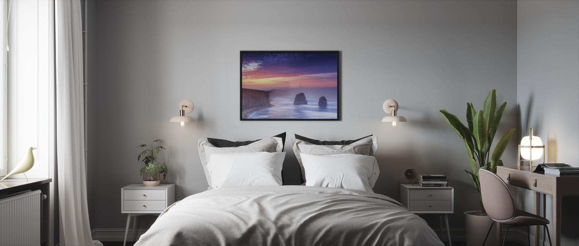 Australische kustlijn - Ingelijste print - Slaapkamer