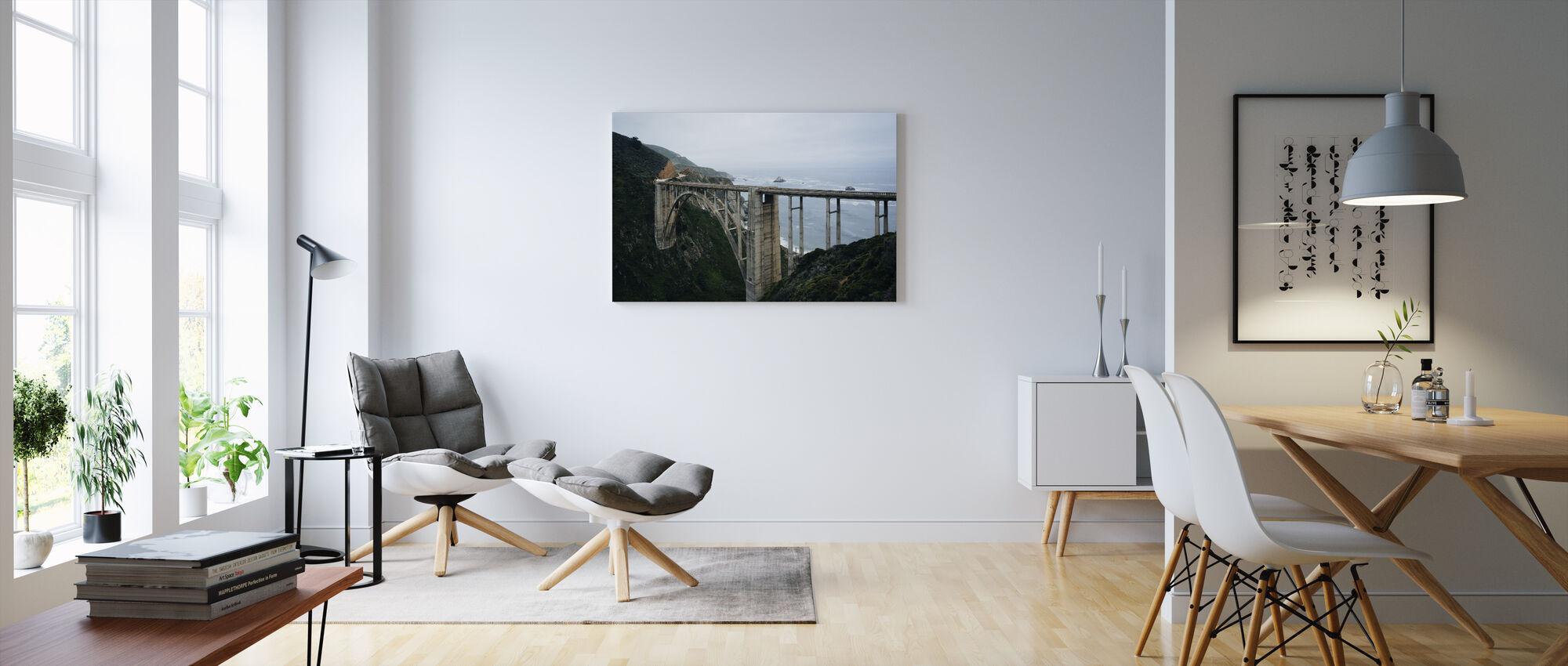 Bixby Creek Bridge - Canvas print - Living Room